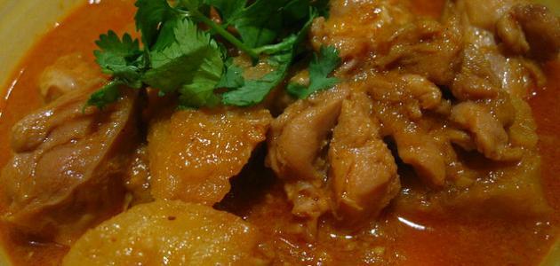 طريقة كاري الدجاج الهندي