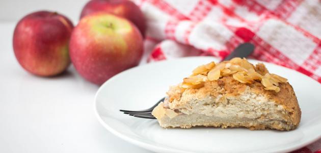 طريقة عمل كيكة التفاح والقرفة