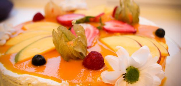 طريقة عمل كيكة بعصير المانجا
