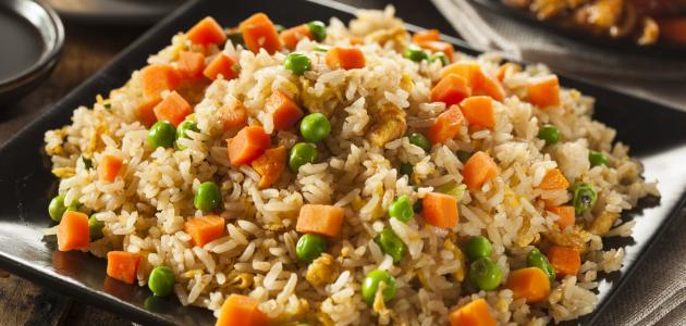 طريقة إعداد الأرز بالخضار