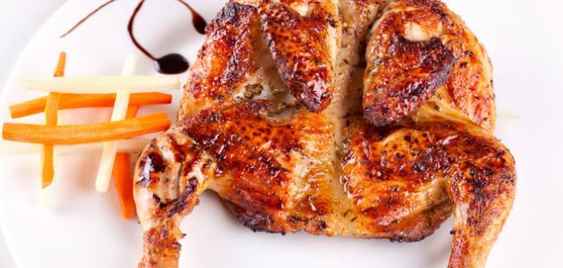 طريقة تتبيل الدجاج المشوي