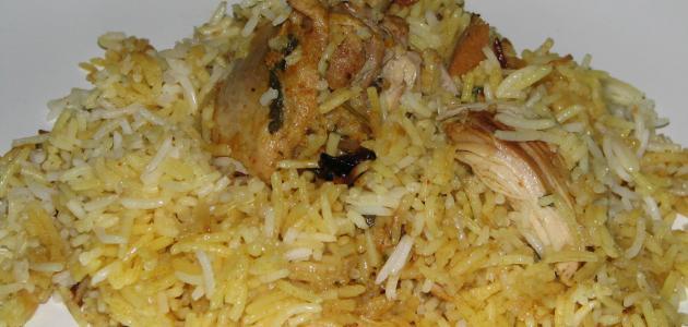 طريقة عمل أرز أبيض مع دجاج