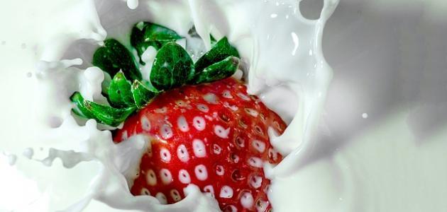 طريقة عمل عصير فراولة بالحليب