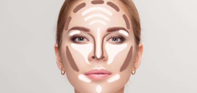 كيفية وضع الكونتور على الوجه
