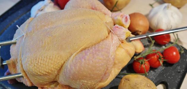 طريقة تثبيت الدجاجة في شواية الفرن