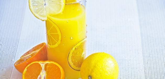 طريقة عمل عصير برتقال وليمون