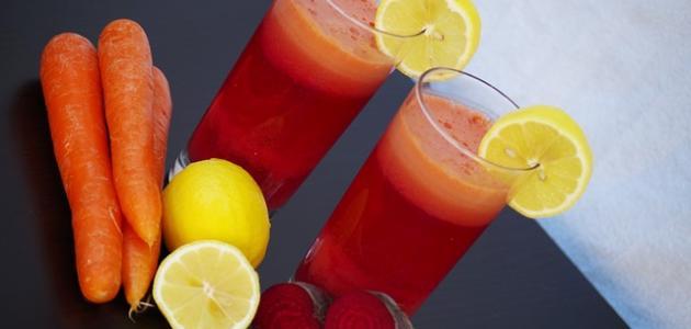 طريقة عمل عصير شمندر وبرتقال