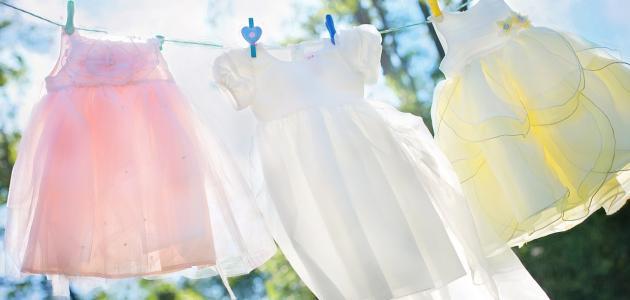 كيفية غسل ملابس الأطفال