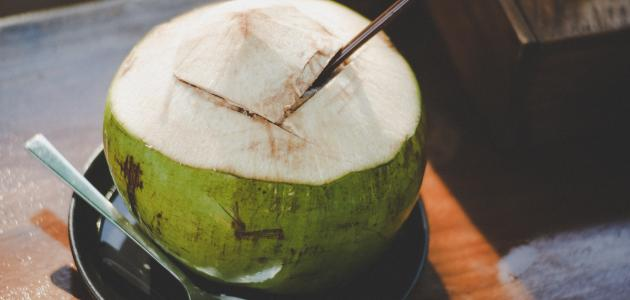 طريقة عمل عصير جوز الهند