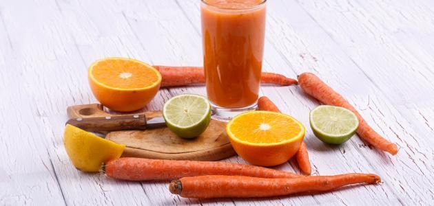 طريقة عمل عصير برتقال وجزر