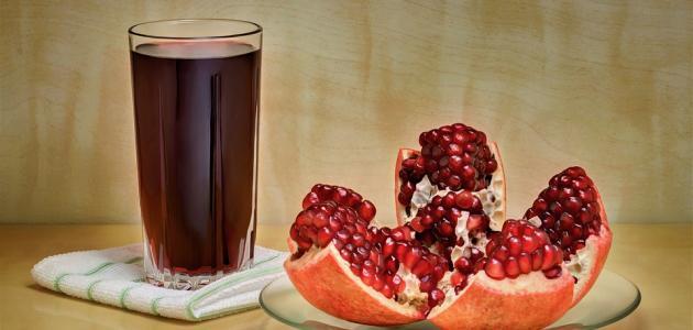 طريقة عمل عصير الرمان الطبيعي