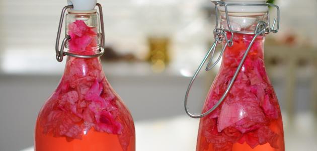 طريقة عمل عصير الورد