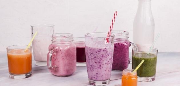 طريقة عمل عصير طبيعي طبقات