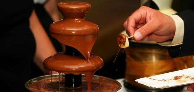 طريقة عمل صوص نافورة الشوكولاته