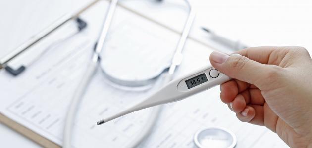 ارتفاع درجة الحرارة عند الرضع