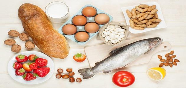 أنواع حساسية الأطعمة