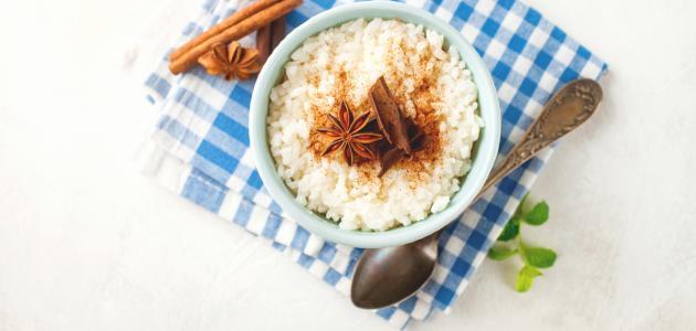 كيفية تحضير الأرز بحليب