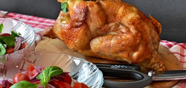 كيفية تحضير الدجاج المشوي