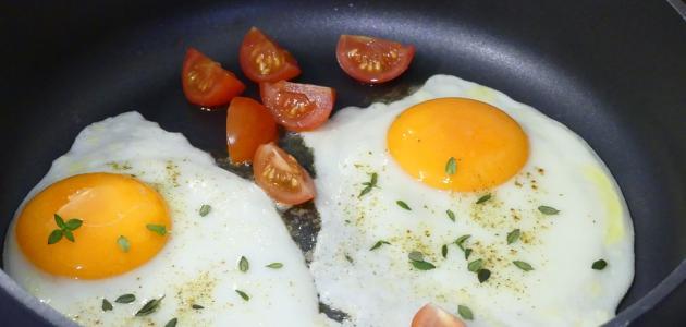 طريقة عمل بيض مقلي صحي