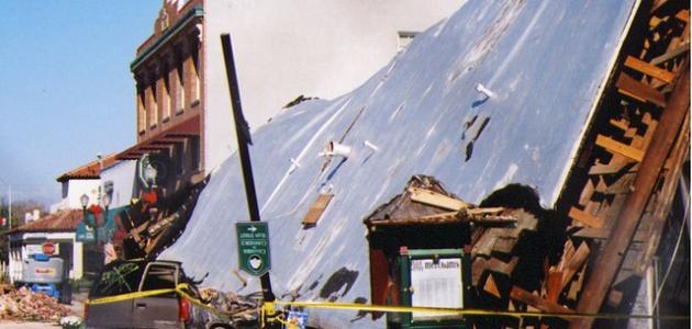 آثار الزلازل على سطح الارض