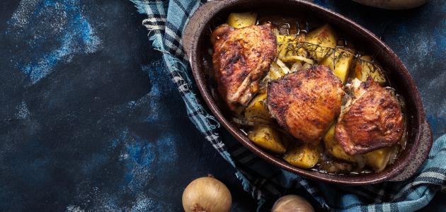 كيفية تحضير الدجاج المحمر بالطريقة المغربية