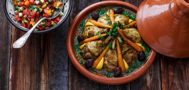 كيفية تحضير الدجاج في الفرن بالطريقة المغربية