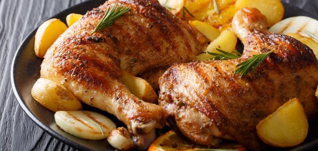 كيفية تحضير فخذ الدجاج في الفرن