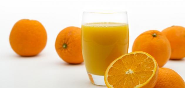 طريقة عمل عصير برتقال طازج بالخلاط