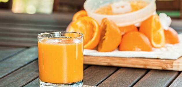 طريقة عمل مركز عصير البرتقال