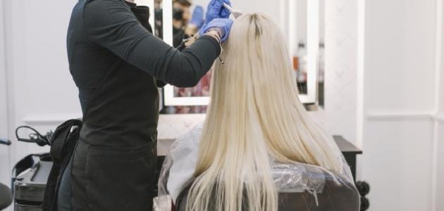 كيفية تشقير الشعر الأسود