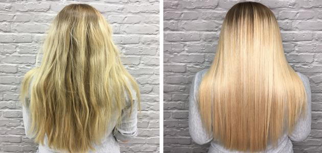 كيفية معالجة الشعر الجاف