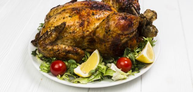 كيفية تحضير دجاجة محمرة في الفرن