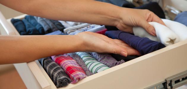 كيف أرتب خزانة الملابس