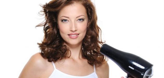 كيف أستعمل مجفف الشعر