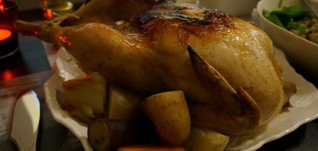 طريقة حشو الدجاج بالارز