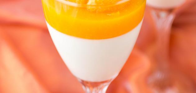 طريقة عمل حلويات باللبن البودرة (مهلبية البرتقال)
