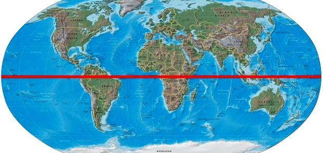 كيف يمكن تحديد موقع خط الاستواء