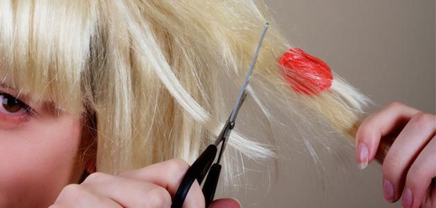 كيف أزيل العلك من الشعر