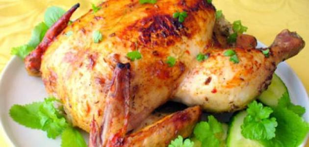 كيفية طبخ دجاجة محمرة