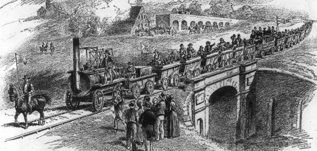 أول سكة قطار