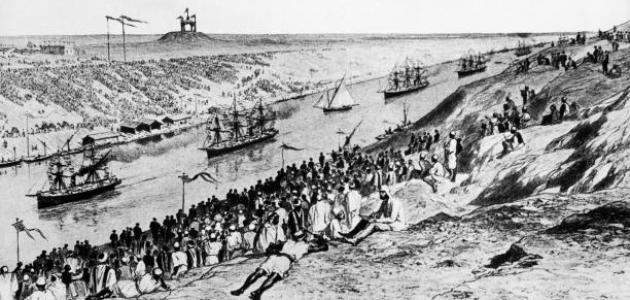متى بدأ حفر قناة السويس