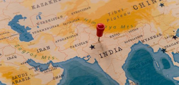 أين تقع الهند