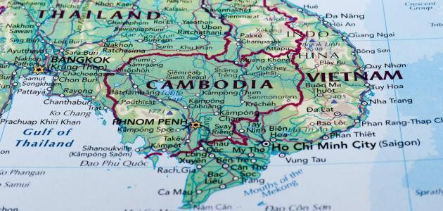 أين تقع كمبوديا