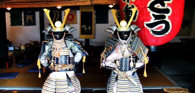 أين عاش الساموراي