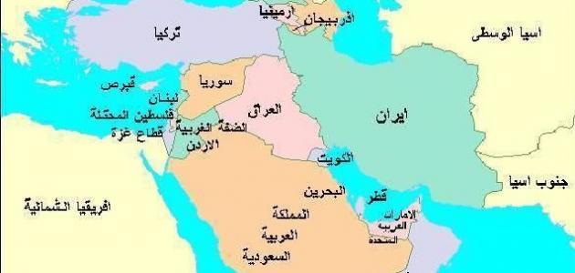 أين تقع شبه الجزيرة العربية