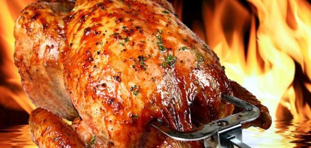 كيفية عمل دجاج مشوي