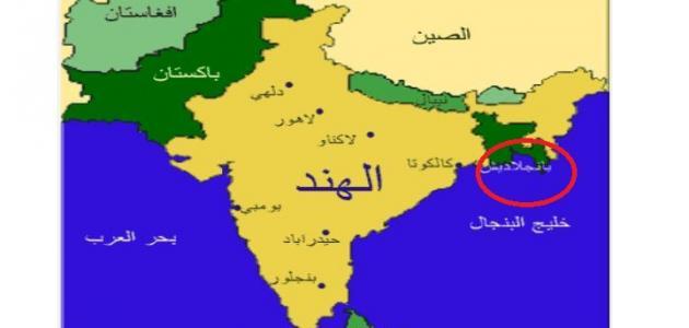 خريطة بنغلاديش