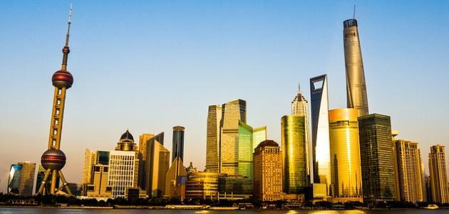 أين يقع برج شنغهاي