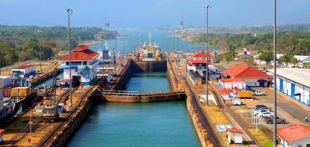 أين تقع قناة بنما