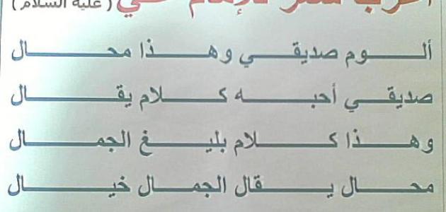 شعر عن الإمام علي